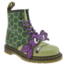 Dr Martens Green Ninja Turtles Donatello Mens Boots