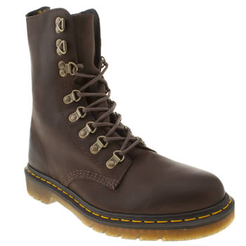 mens dr martens dark brown triumph wallis boots