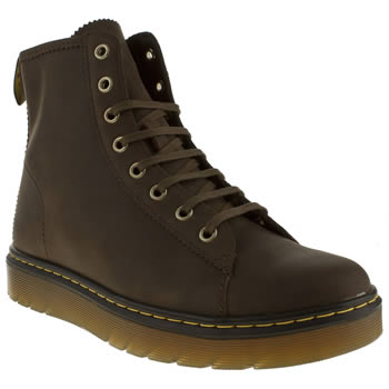 mens dr martens dark brown fusion mayer boots