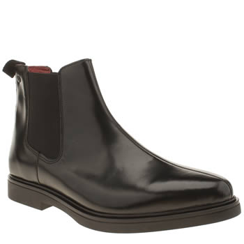 Base London Black Spy Chelsea Boots