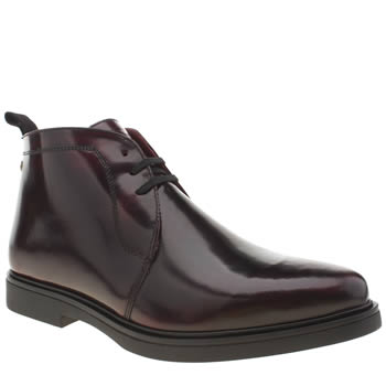 Base London Burgundy Spy Chukka Boots
