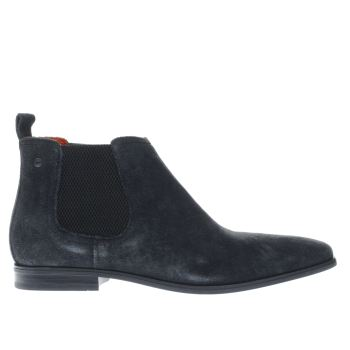 Base London Navy Monarch Chelsea Boots