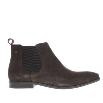 Mens Base London Dark Brown Monarch Chelsea Boots