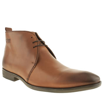 Mens Base London Tan Spice Derby Boots