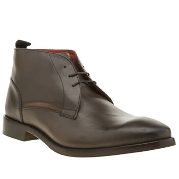 Base London Dark Brown Byron Mens Boots