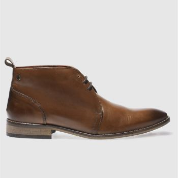 Base London Tan County Chukka Mens Boots