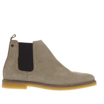 Base London Beige Tournament Chelsea Boots
