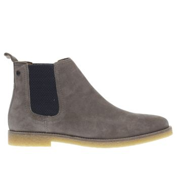 Base London Grey Tournament Chelsea Boots