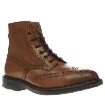Red Or Dead Tan Mr Crooks Brogue Mens Boots