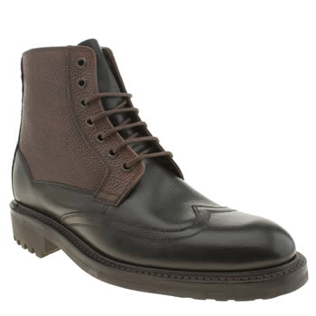 Oliver Sweeney Black & Brown Danby Wing Boots