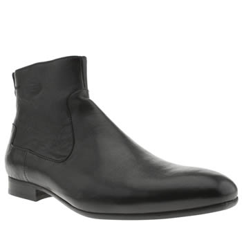 H By Hudson Black Rene Inside Zip Boots