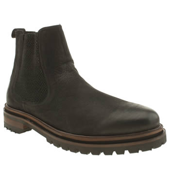 H By Hudson Black Hawnby Chelsea Boots