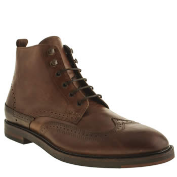 H By Hudson Brown Tapton Brogue Boots