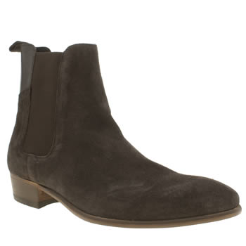 Mens H By Hudson Dark Brown Ronnie Cuban Chelsea Boots