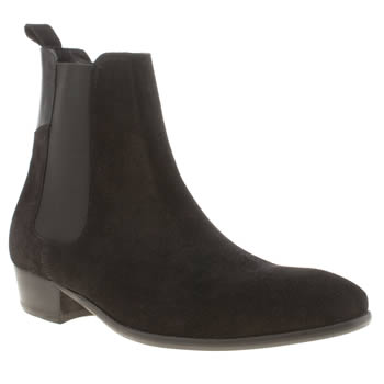 H By Hudson Black Ronnie Cuban Chelsea Boots
