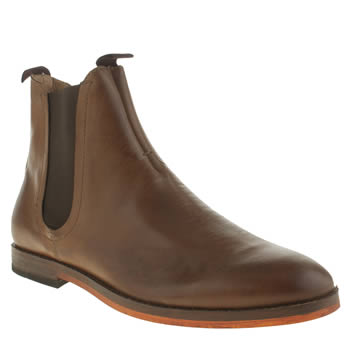 H By Hudson Tan Hallam Chelsea Boots