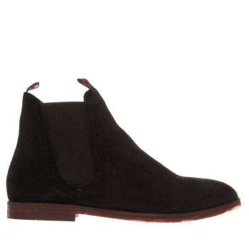 H By Hudson Black Hallam Chelsea Boots