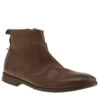 Mens H By Hudson Brown Kanto Zip Boots