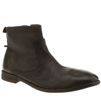 H By Hudson Black Kanto Zip Boots