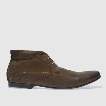 Base London Dark Brown Base Galaxy Chukka Mens Boots