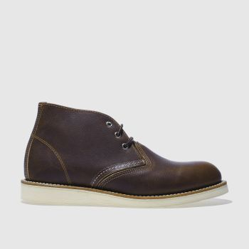 Red Wing Dark Brown 3 Tie Chukka Boot Mens Boots