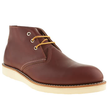 Mens Red Wing Tan 3 Tie Chukka Boots