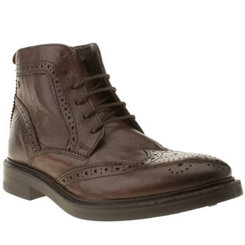 mens base london dark brown manor brocket boots