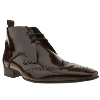 mens jeffery west burgundy escobar brogue boot boots