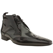 Black & Silver Jeffery West Escobar Brogue Boot