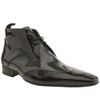 Mens Jeffery West Black & Silver Escobar Brogue Boot Boots
