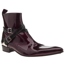 Jeffery West Burgundy Adamant B Strap Mens Boots