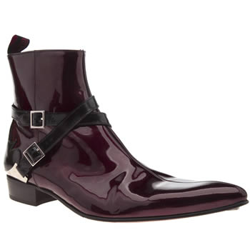 Jeffery West Burgundy Adamant B Strap Boots