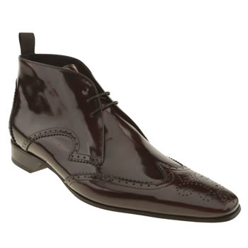 mens jeffery west burgundy escobar 2 brogue boots