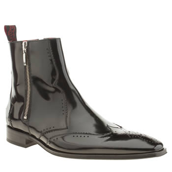 mens jeffery west black scarface double zip boots