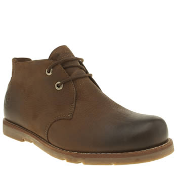Mens Timberland Brown Rugged Plain Toe Boots