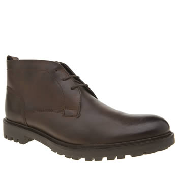 Ikon Dark Brown Terie Chukka Mens Boots