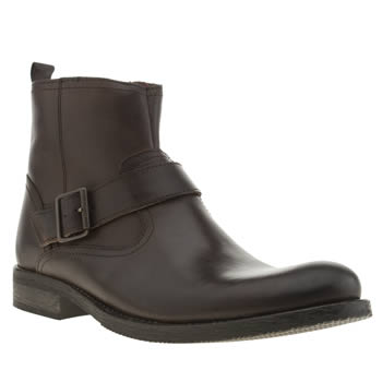 Ikon Brown Officer Strap Boot Boots