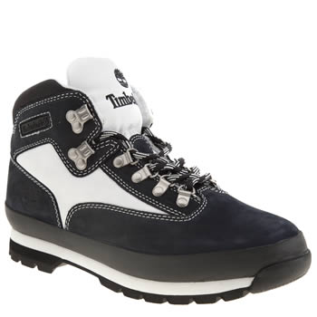 Timberland White & Navy Eurohiker Sc Boots