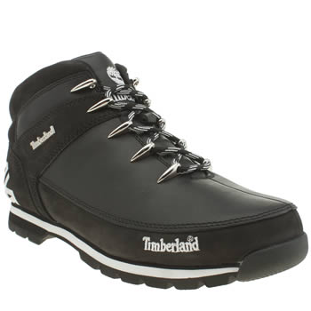Timberland Black Eurosprint Tree Hiker Boots