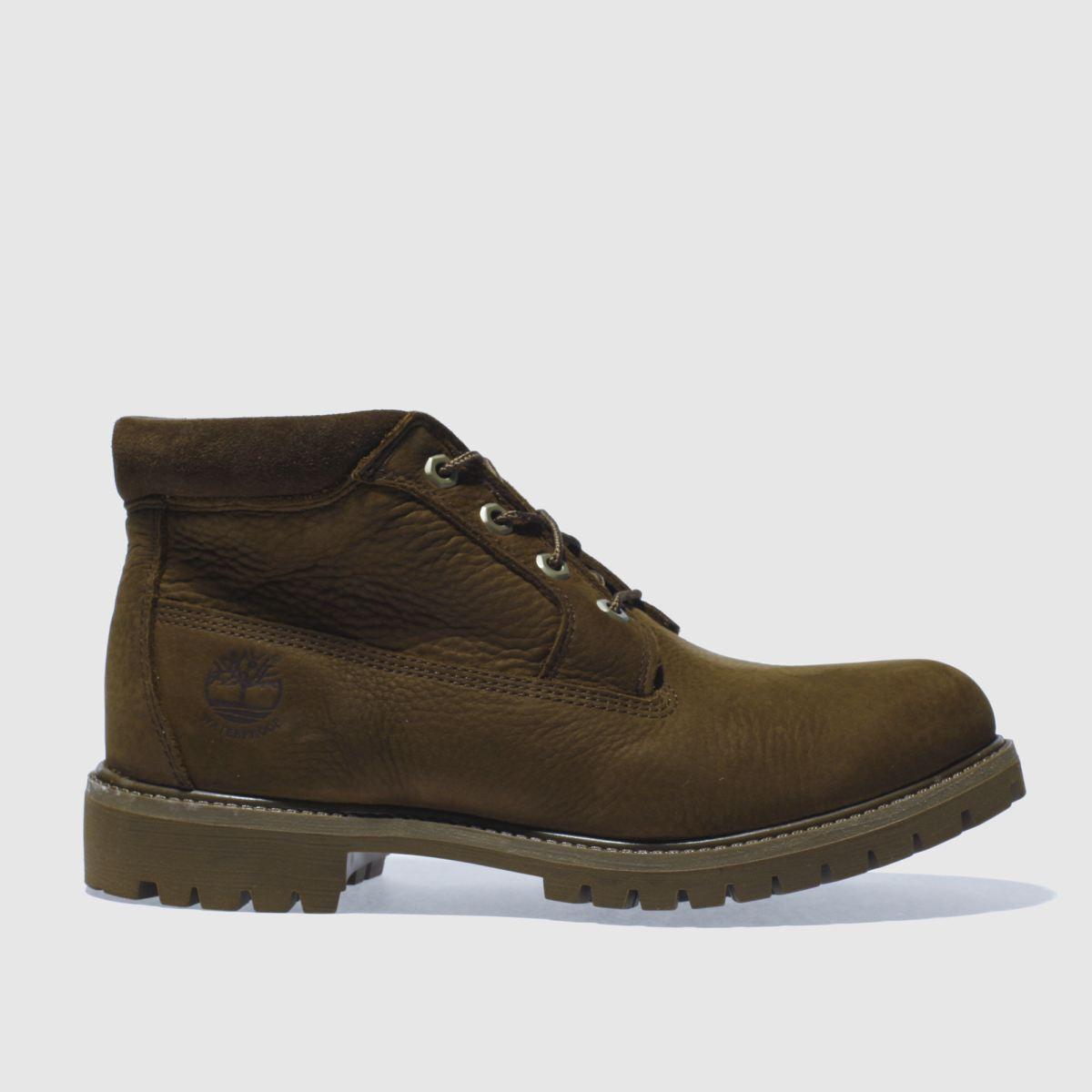 timberland dark brown waterproof chukka boots