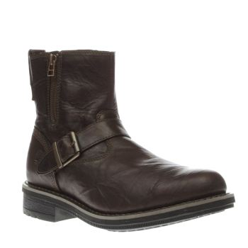 Timberland Dark Brown Willoughby Grunge Side Zip Mens Boots