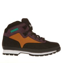 Timberland Black & Tan Eurohiker Outdoor Mens Boots