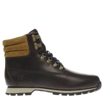 Timberland Dark Brown Hutchington Hiker Boots