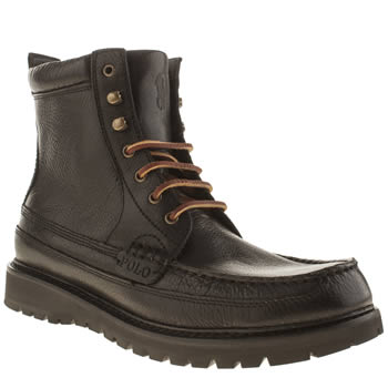 Polo Ralph Lauren Black Willingcott Apr Boots