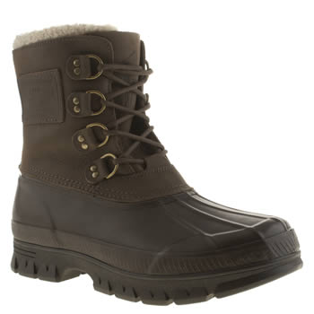 Mens Polo Ralph Lauren Brown Landen Boots
