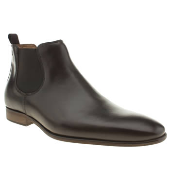 Mens Red Or Dead Dark Brown Mr Gibb Chelsea Boots