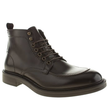Mens Red Or Dead Dark Brown Mr Renton Apron Boots