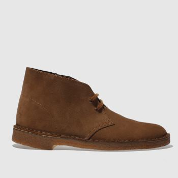 Mens Clarks Originals Brown Desert Boots