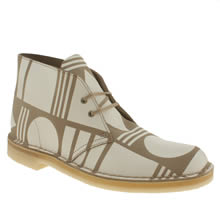 Stone Clarks Originals Desert Patternity