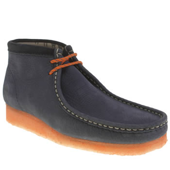 Mens Clarks Originals Navy Wallabee Boot Doom Boots